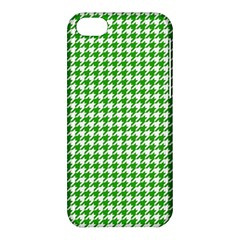 Friendly Houndstooth Pattern,green Apple Iphone 5c Hardshell Case