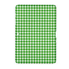 Friendly Houndstooth Pattern,green Samsung Galaxy Tab 2 (10 1 ) P5100 Hardshell Case