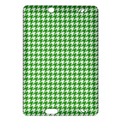 Friendly Houndstooth Pattern,green Amazon Kindle Fire Hd (2013) Hardshell Case