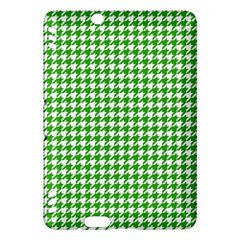 Friendly Houndstooth Pattern,green Kindle Fire Hdx Hardshell Case