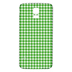 Friendly Houndstooth Pattern,green Samsung Galaxy S5 Back Case (white)