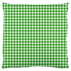 Friendly Houndstooth Pattern,green Large Flano Cushion Case (one Side)