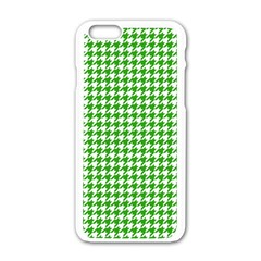 Friendly Houndstooth Pattern,green Apple Iphone 6/6s White Enamel Case