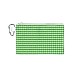 Friendly Houndstooth Pattern,green Canvas Cosmetic Bag (s)