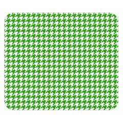 Friendly Houndstooth Pattern,green Double Sided Flano Blanket (small)