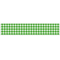 Friendly Houndstooth Pattern,green Flano Scarf (large)