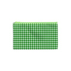 Friendly Houndstooth Pattern,green Cosmetic Bag (xs)