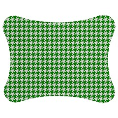 Friendly Houndstooth Pattern,green Jigsaw Puzzle Photo Stand (bow)