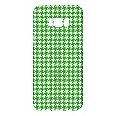 Friendly Houndstooth Pattern,green Samsung Galaxy S8 Plus Hardshell Case