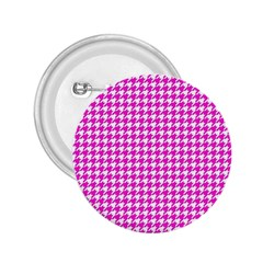 Friendly Houndstooth Pattern,pink 2 25  Buttons