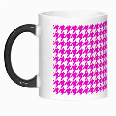 Friendly Houndstooth Pattern,pink Morph Mugs