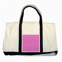 Friendly Houndstooth Pattern,pink Two Tone Tote Bag
