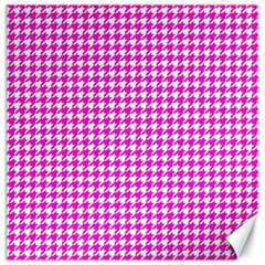 Friendly Houndstooth Pattern,pink Canvas 20  X 20