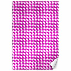 Friendly Houndstooth Pattern,pink Canvas 20  X 30