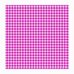 Friendly Houndstooth Pattern,pink Medium Glasses Cloth (2 Side)