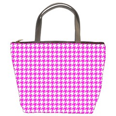 Friendly Houndstooth Pattern,pink Bucket Bags