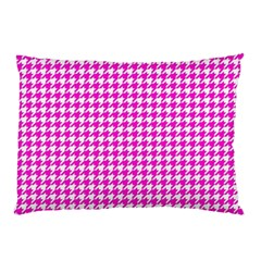 Friendly Houndstooth Pattern,pink Pillow Case
