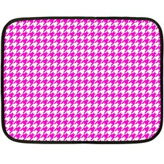 Friendly Houndstooth Pattern,pink Fleece Blanket (mini)