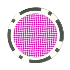 Friendly Houndstooth Pattern,pink Poker Chip Card Guard (10 Pack)
