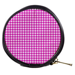 Friendly Houndstooth Pattern,pink Mini Makeup Bags