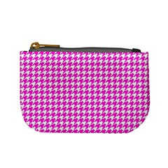 Friendly Houndstooth Pattern,pink Mini Coin Purses
