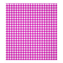 Friendly Houndstooth Pattern,pink Shower Curtain 66  X 72  (large)