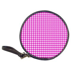 Friendly Houndstooth Pattern,pink Classic 20 Cd Wallets