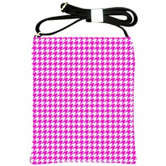 Friendly Houndstooth Pattern,pink Shoulder Sling Bags