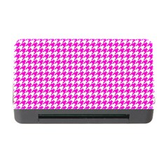 Friendly Houndstooth Pattern,pink Memory Card Reader With Cf