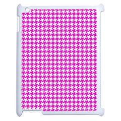 Friendly Houndstooth Pattern,pink Apple Ipad 2 Case (white)
