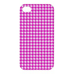 Friendly Houndstooth Pattern,pink Apple Iphone 4/4s Hardshell Case