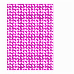 Friendly Houndstooth Pattern,pink Small Garden Flag (two Sides)