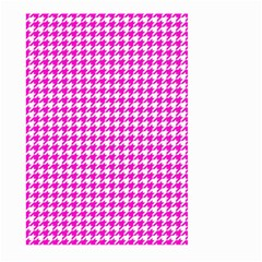 Friendly Houndstooth Pattern,pink Large Garden Flag (two Sides)