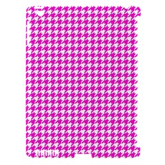 Friendly Houndstooth Pattern,pink Apple Ipad 3/4 Hardshell Case (compatible With Smart Cover)