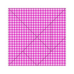 Friendly Houndstooth Pattern,pink Acrylic Tangram Puzzle (6  X 6 )