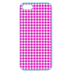 Friendly Houndstooth Pattern,pink Apple Seamless Iphone 5 Case (color)