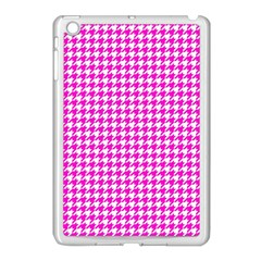 Friendly Houndstooth Pattern,pink Apple Ipad Mini Case (white)