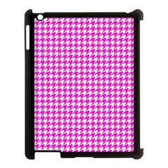 Friendly Houndstooth Pattern,pink Apple Ipad 3/4 Case (black)
