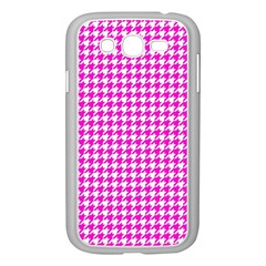Friendly Houndstooth Pattern,pink Samsung Galaxy Grand Duos I9082 Case (white)
