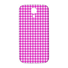 Friendly Houndstooth Pattern,pink Samsung Galaxy S4 I9500/i9505  Hardshell Back Case