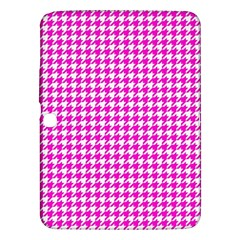 Friendly Houndstooth Pattern,pink Samsung Galaxy Tab 3 (10 1 ) P5200 Hardshell Case