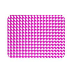 Friendly Houndstooth Pattern,pink Double Sided Flano Blanket (mini)
