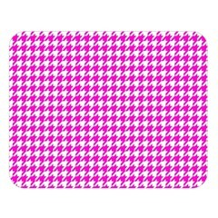 Friendly Houndstooth Pattern,pink Double Sided Flano Blanket (large)