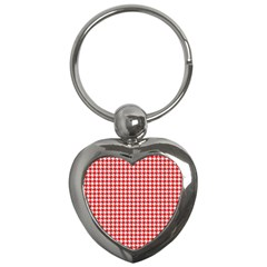 Friendly Houndstooth Pattern,red Key Chains (heart)