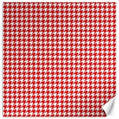 Friendly Houndstooth Pattern,red Canvas 20  X 20