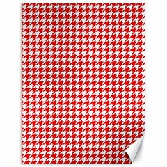 Friendly Houndstooth Pattern,red Canvas 18  X 24