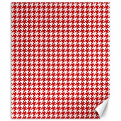 Friendly Houndstooth Pattern,red Canvas 20  X 24