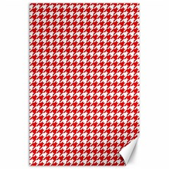 Friendly Houndstooth Pattern,red Canvas 20  X 30