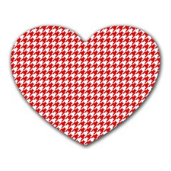 Friendly Houndstooth Pattern,red Heart Mousepads