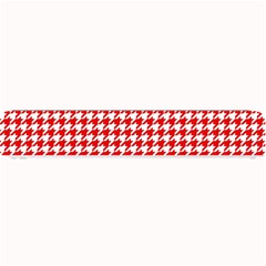 Friendly Houndstooth Pattern,red Small Bar Mats